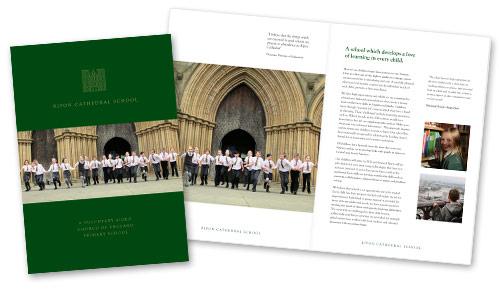 Cathedral School Prospectus Design