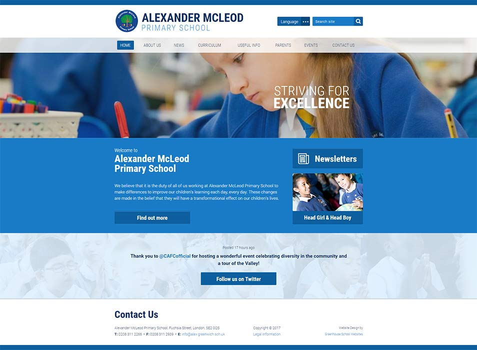 Welcome to Alexander McLeod Primary School Website Design