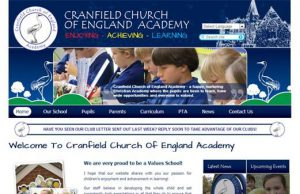 Cranfield old website design