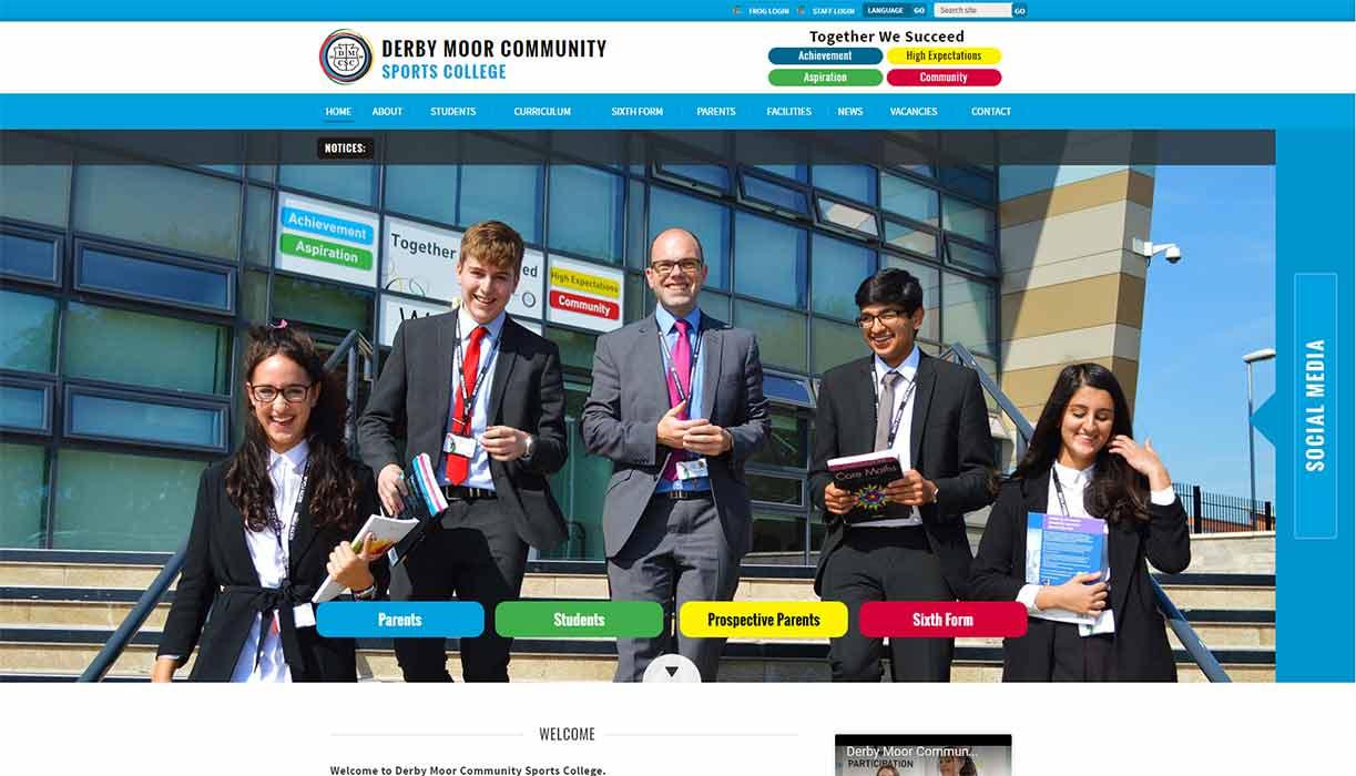 Derby Moor Academy Website