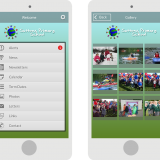 school mobile app screens
