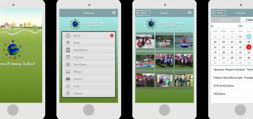 school mobile app screens