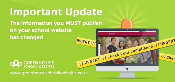 Important school website content