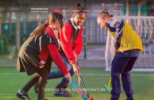 Click to view school website design for Penwortham Primary School