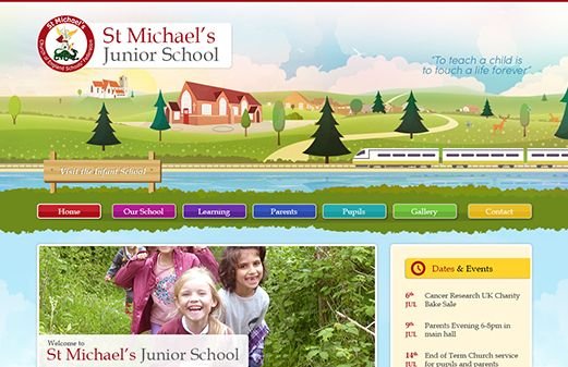 Click to view school website design for St Michael's C of E Junior School