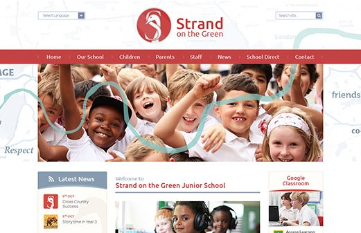 Click to view school website design for Strand on the Green Junior School