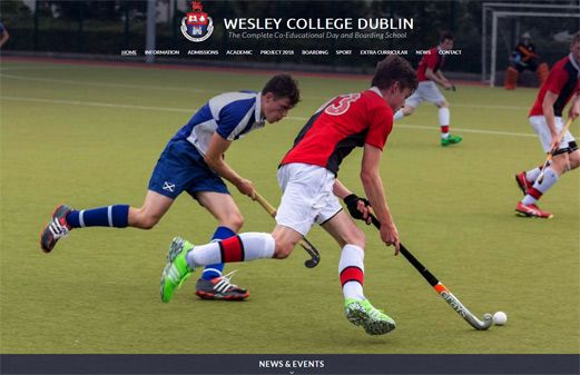 Click to view school website design for Wesley College Dublin