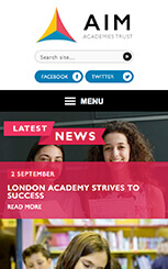 AIM Academies Trust mobile friendly Website Design