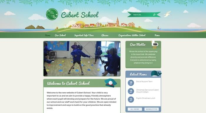 Cubert School school web design