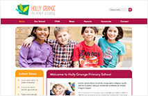 Friendly School Website Template: Maroon version