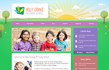 Nature School Website Template: Pink version