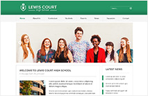 Professional School Website Template: Green version