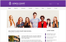 Professional School Website Template: Purple version