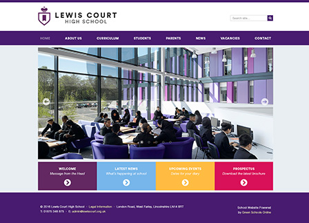 Simple School Website Template: Purple