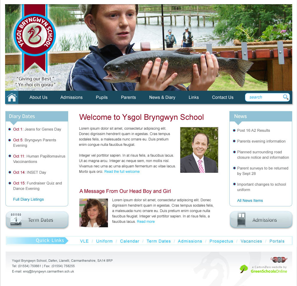Bryngwyn School Website