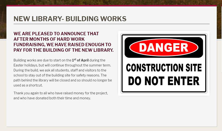 News Listing Idea- building works