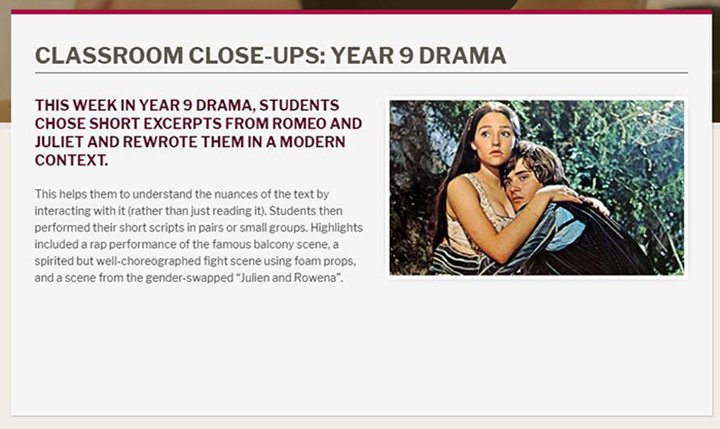 news listing idea classroom