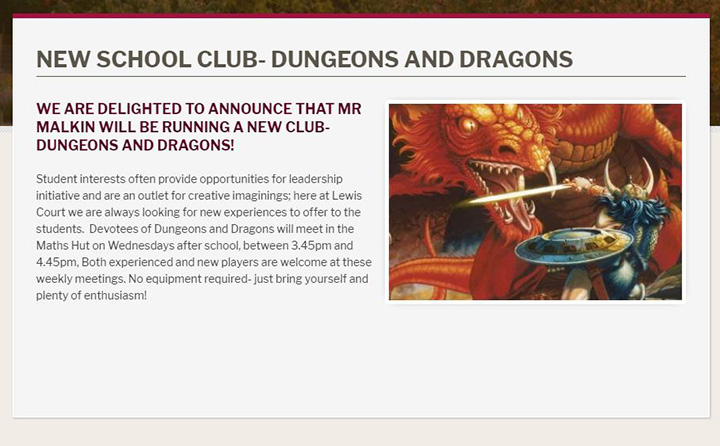 News Listing Idea- school clubs