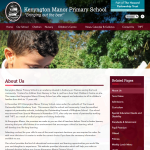Kenyngton Manor Primary School Inside Page by Greenhouse School Websites