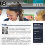 Howard of Effingham School Inside Page by Greenhouse School Websites