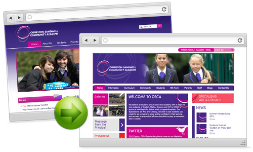 School website - Ormiston Sandwell Academy