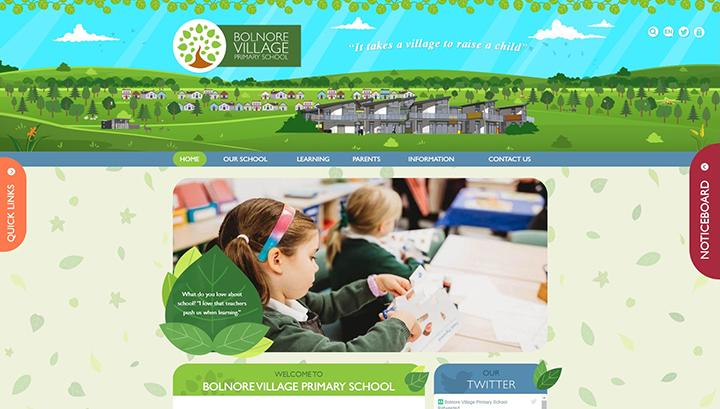 Bolnore Village Primary School Website Design by Greenhouse