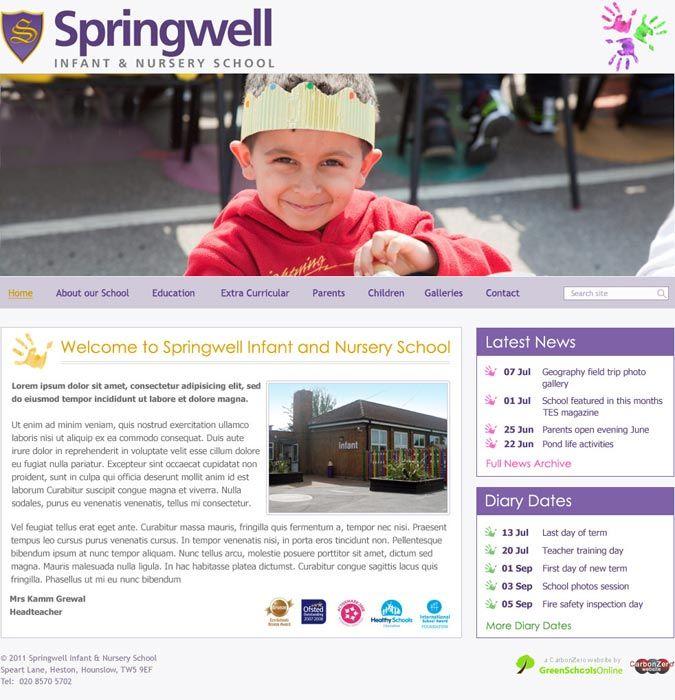Springwell Primary School wesbite