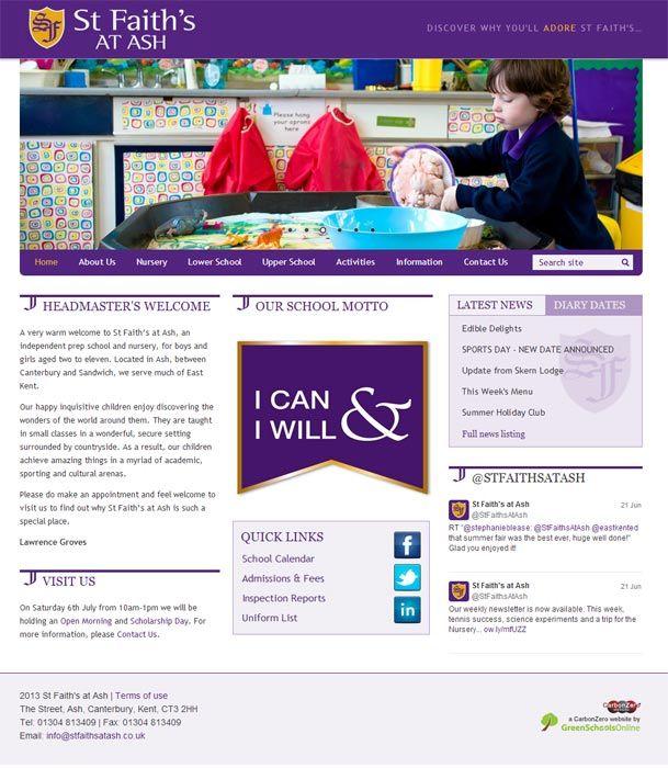 St Faith's website design