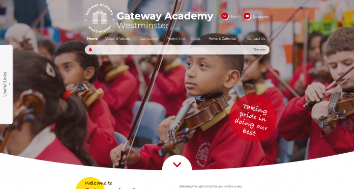 Gateway Academy School Website Design by Greenhouse School Websites