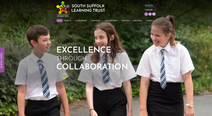 South Suffolk Learning Trust Website Design by Greenhouse School Websites