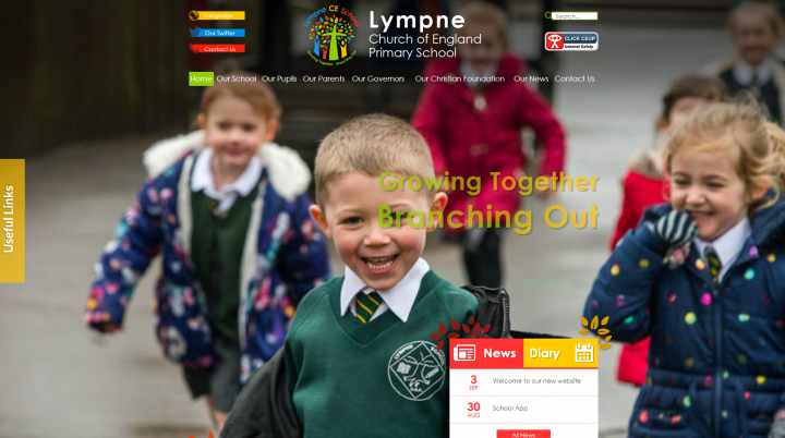 Lympne School Website Design by Greenhouse School Websites