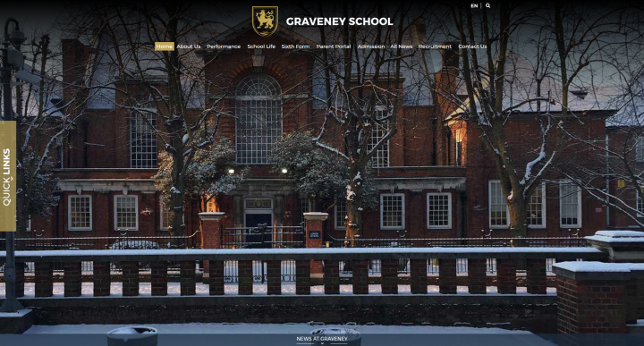 Graveney School Website Design by Greenhouse School Websites