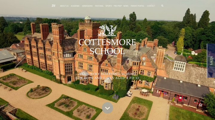 Cottesmore School Website Design by Greenhouse School Websites