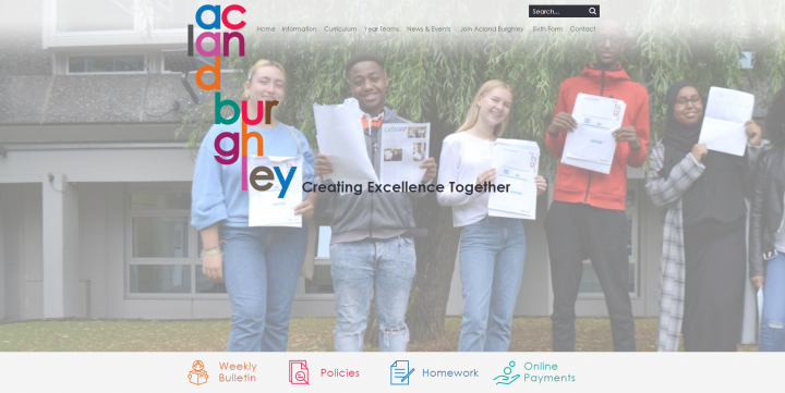Acland Burghley School Website Design by Greenhouse School Websites