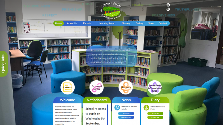 Stanwell Fields School Website Design by Greenhouse School Websites
