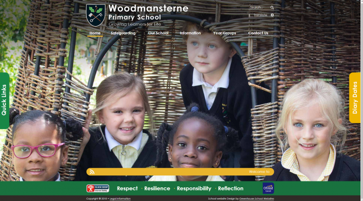 Woodmansterne School Website Design by Greenhouse School Websites