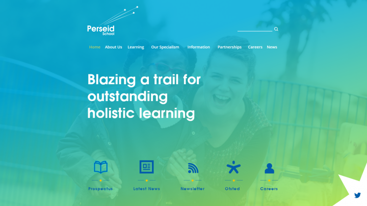 Perseid School Website Design by Greenhouse School Websites