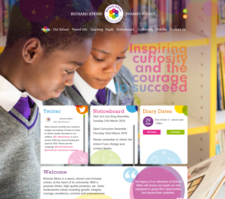 Richard Atkins Primary School Website By Greenhouse School Websites