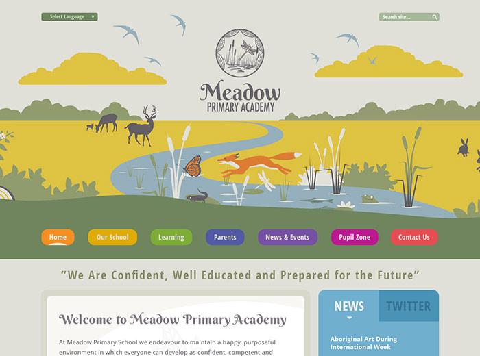The Meadow Primary Academy Website Design