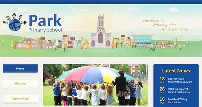Park Primary illustration website design