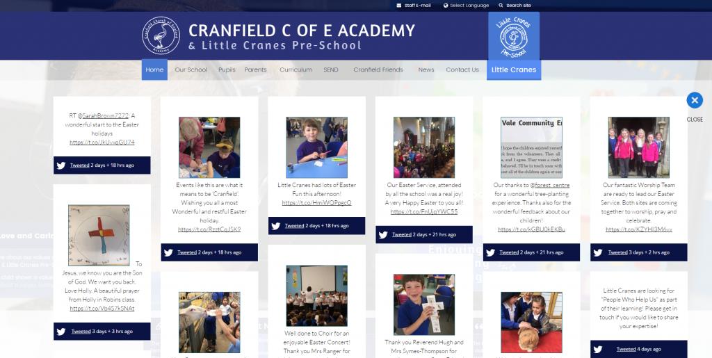 Cranfield Academy Twitter Wall