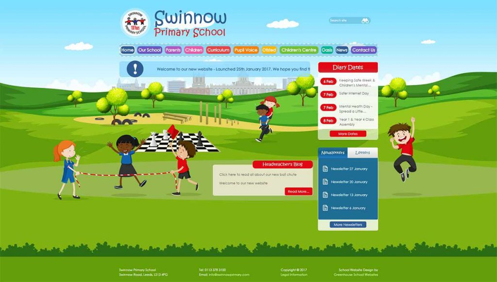 Swinnow Primary School Website Design