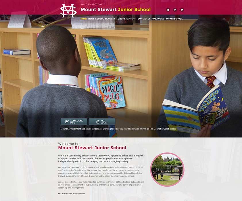 Mount Stewart School Website Design