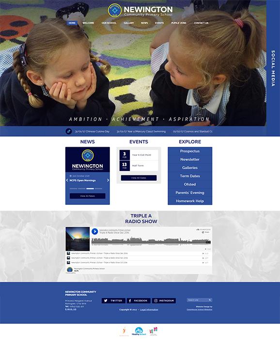 Newington Primary School Website Design