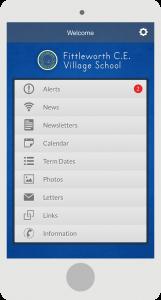 school mobile app menu