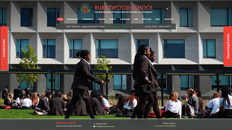 Burntwood school website design