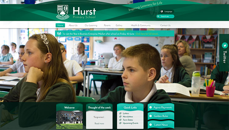 Hurst Primary school website launch