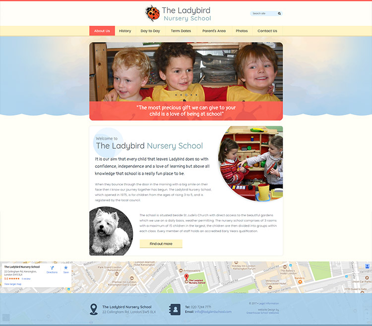 Ladybird school website launch