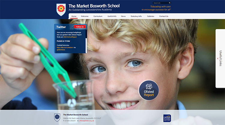 market bosworth school website design