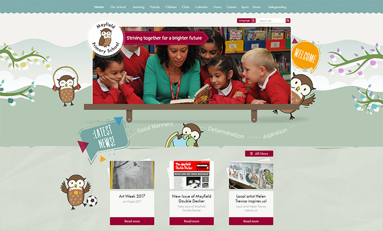 mayfield primary school website design